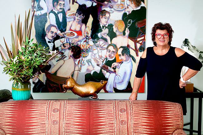 Alla Wolf-Tasker famous for her Lake House restaurant in Daylesford in her own home in Daylesford. Photo: Michael Rayner