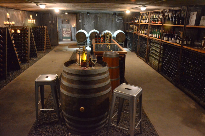 Cleveland Winery Underground Cellar